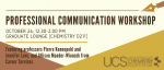 Professional Communications Workshop 2017